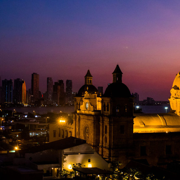 Night Skyline of Cartagena, Colombia