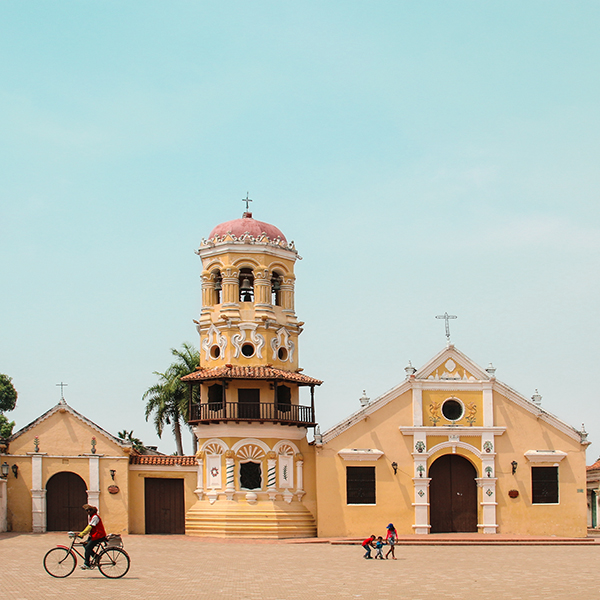 Square in Mompox, Colombia